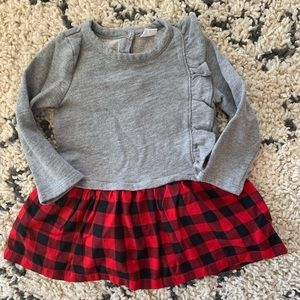 Baby gap plaid dress size 2